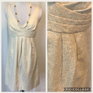 WHBM Gold & Cream Dress 6